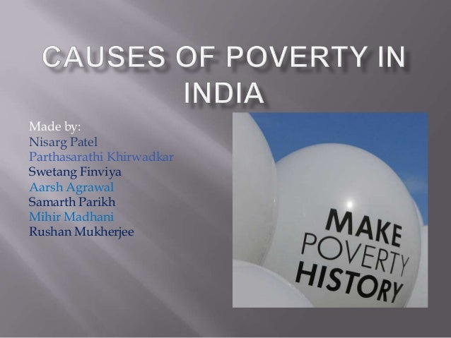 The causes of poverty and solutions