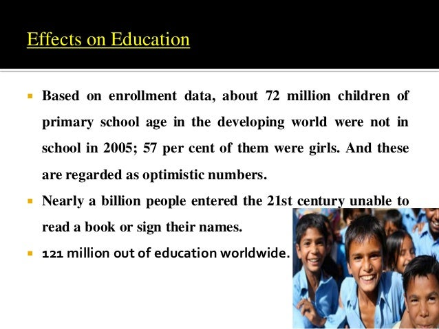 Effects of poverty on enrollment in