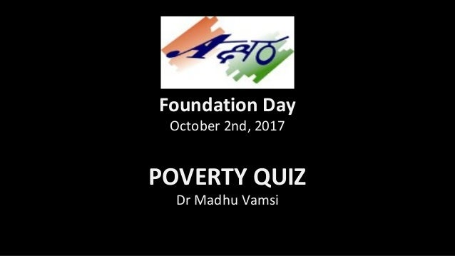 Poverty Quiz 2017