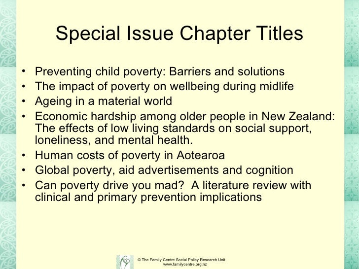 literature review on causes of poverty 11 chapter 2: literature review in the two decades since hiv/aids was first identified, the body of research into the disease has been steadily growing.
