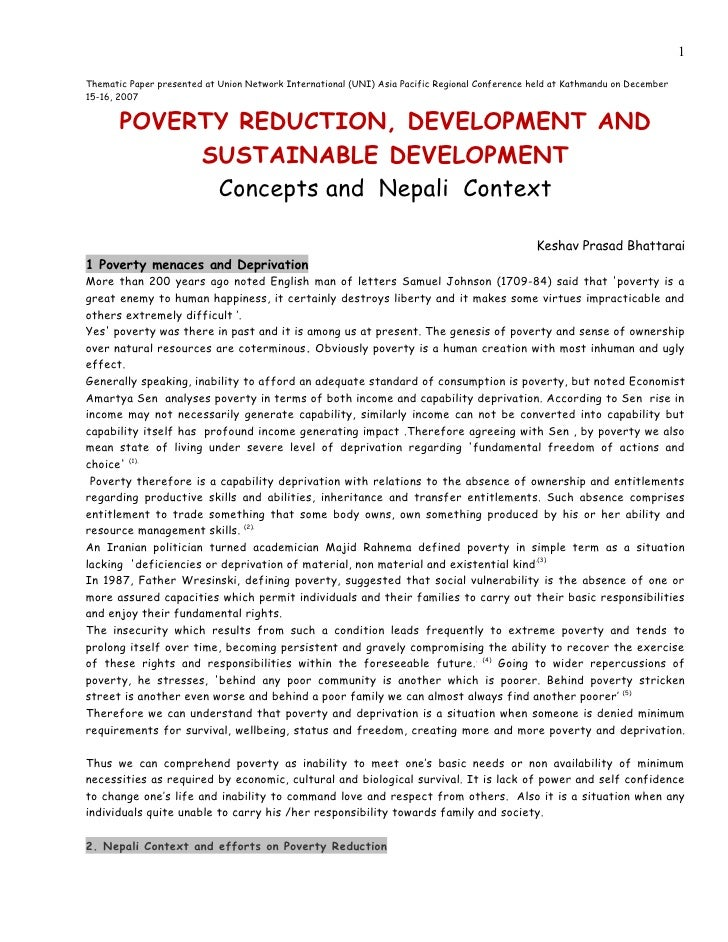 poverty and sustainable development Promoting sustainable development  this infographic displays the 17 un sustainable development goals number 1 is no poverty.