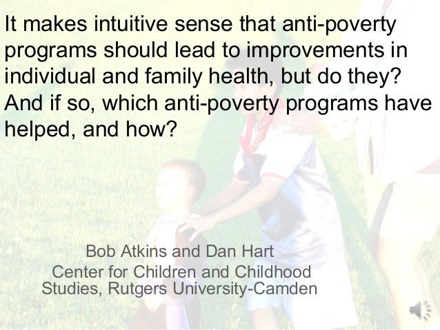 It makes intuitive sense that anti-povertyprograms should lead to improvements inindividual and family health, but do they...