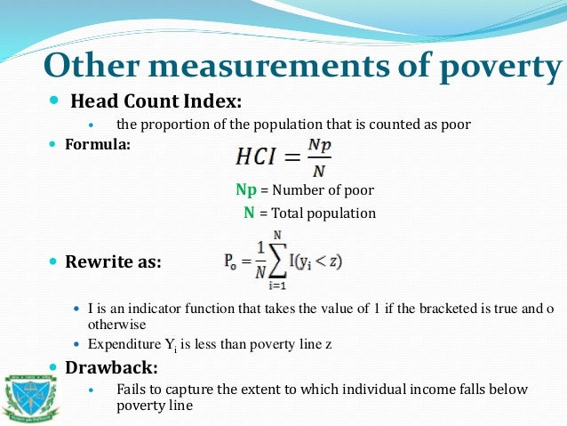 foster greer index Chapter 4 measures of poverty  it is one of the foster-greer-thorbecke (fgt) class of poverty measures that may be written as  the index puts more weight on .