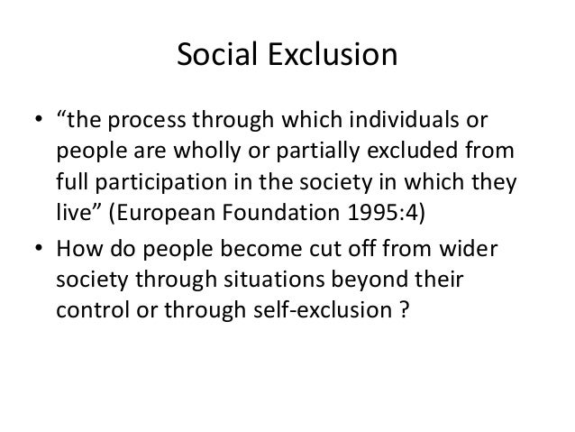 Exceptional 20. Types Of Social Exclusion ...