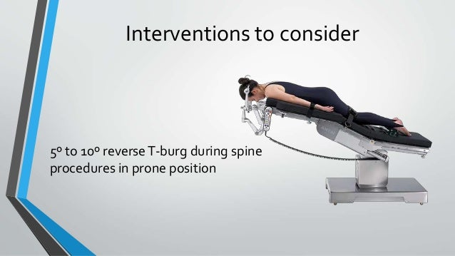 Interventions to consider 5º to 10º reverseT-burg during spine procedures in prone position