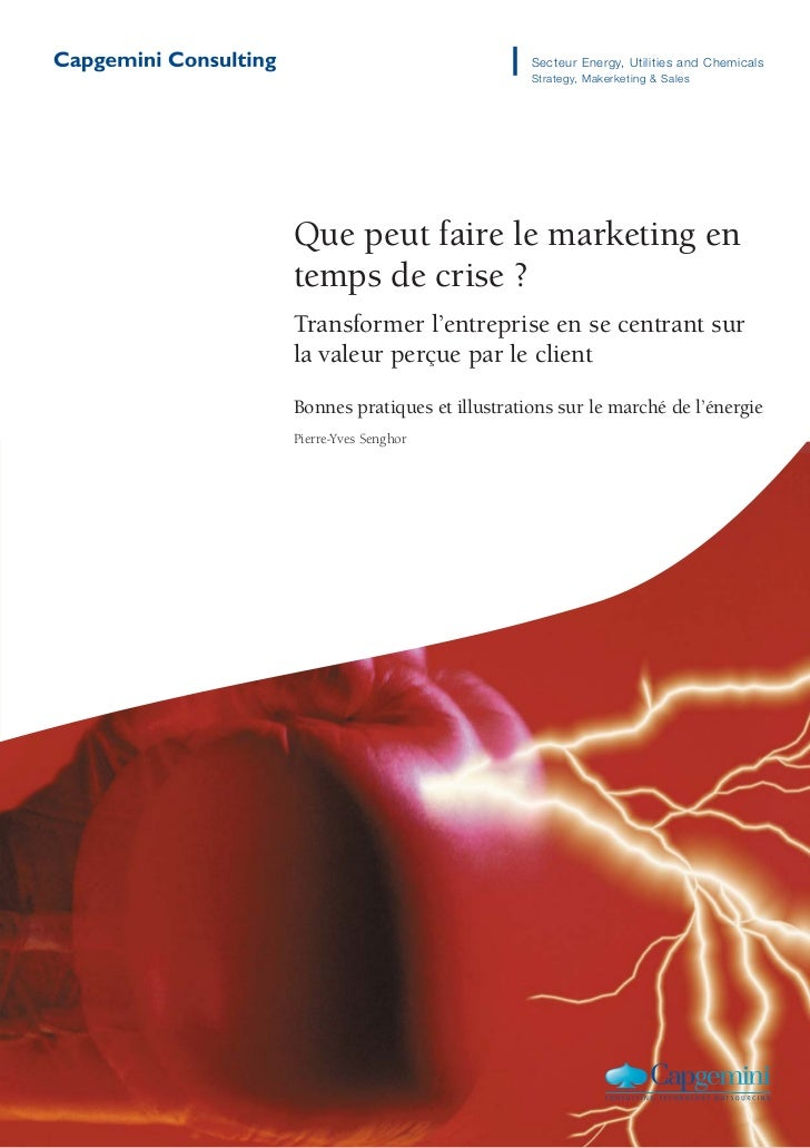 Secteur Energy, Utilities and Chemicals                              Strategy, Makerketing & SalesQue peut faire le market...