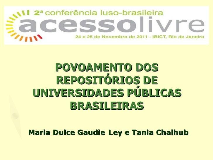 Povoamento de ri no brasil