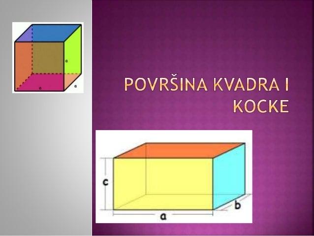 Kvadar je rogljasto telo ograničeno sa 6 ravnih površi oblika pravougaonika. Te površi nazivamo stranama kvadra.