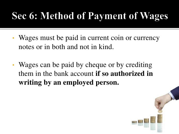the payment of wages act 1936 essay (1) this act may be called the payment of wages act, 1936  (6) nothing in this  act shall apply to wages payable in respect of a wage-period.
