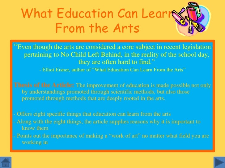 Importance of art education in high