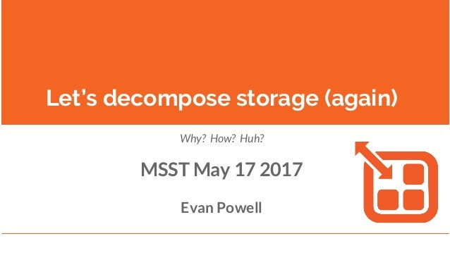Learning from ZFS to Scale Storage on and under Containers