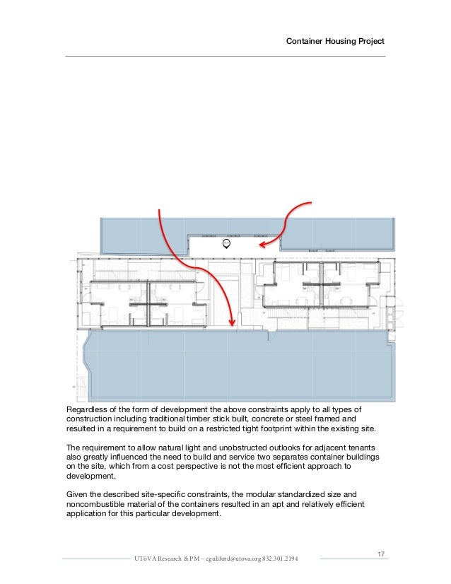 Containerized Housing Unit Sample Plan