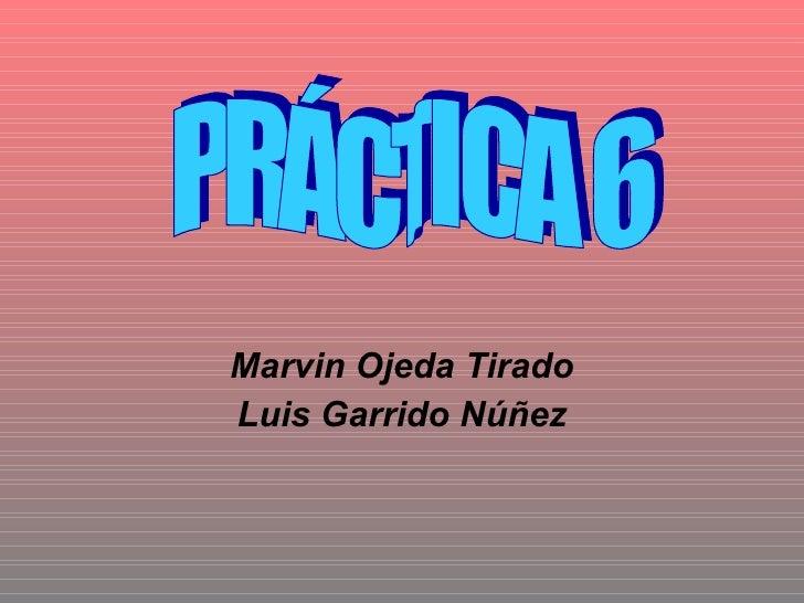 Marvin Ojeda Tirado Luis Garrido Núñez PRÁCTICA 6