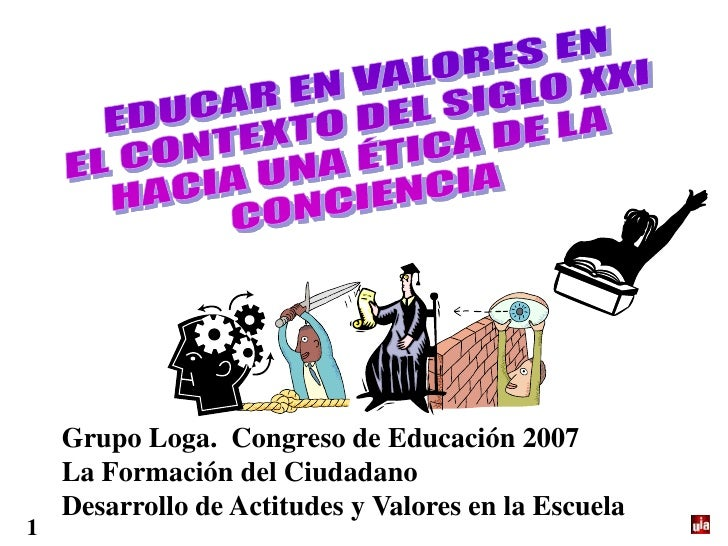 Grupo Loga. Congreso de Educación 2007     La Formación del Ciudadano     Desarrollo de Actitudes y Valores en la Escuela 1