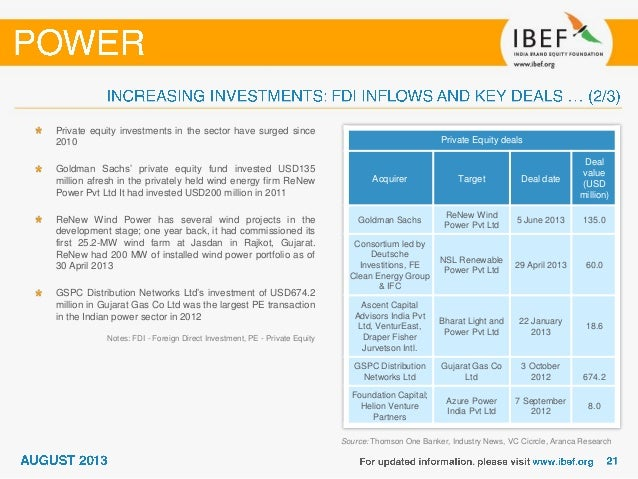 India Power Sector Report August 2013