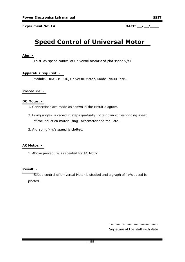 power electronics lab manual icircplusmn rpm 54 58 power electronics lab manual