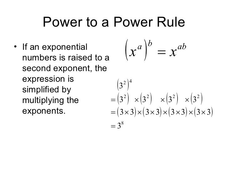 Power Of A Power : Power laws