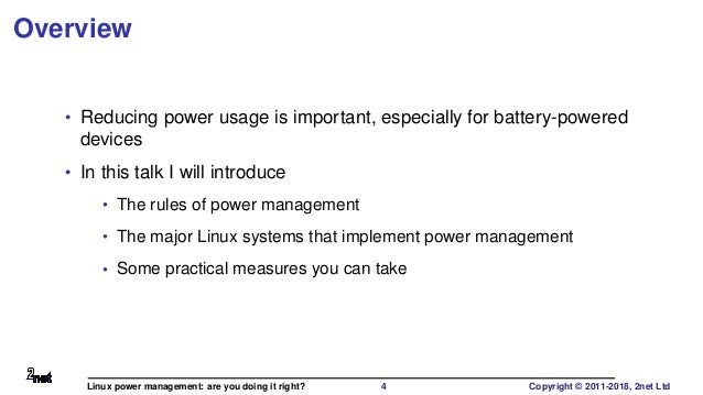 Linux power management: are you doing it right?