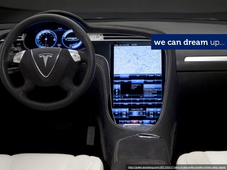 we can dream up...http://green.autoblog.com/2011/03/17/elon-musk-tesla-model-s-third-party-apps/
