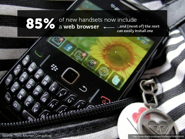 85%                of new handsets now include                                 a web browser       ...and (most of) the re...