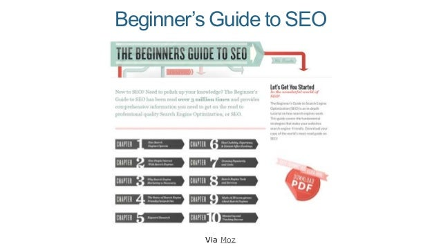 Beginner's Guide to SEO Via Moz