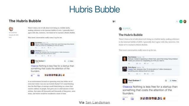 Hubris Bubble Via Ian Landsman
