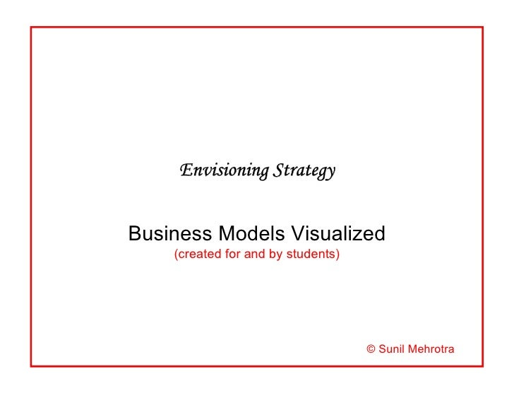 Envisioning Strategy   Business Models Visualized     (created for and by students)                                       ...