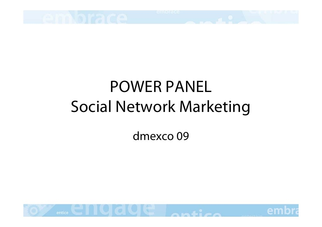 POWER PANEL Social Network Marketing         dmexco 09