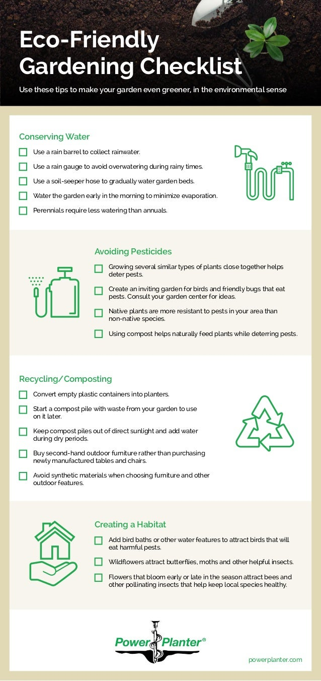 eco-friendly gardening checklist