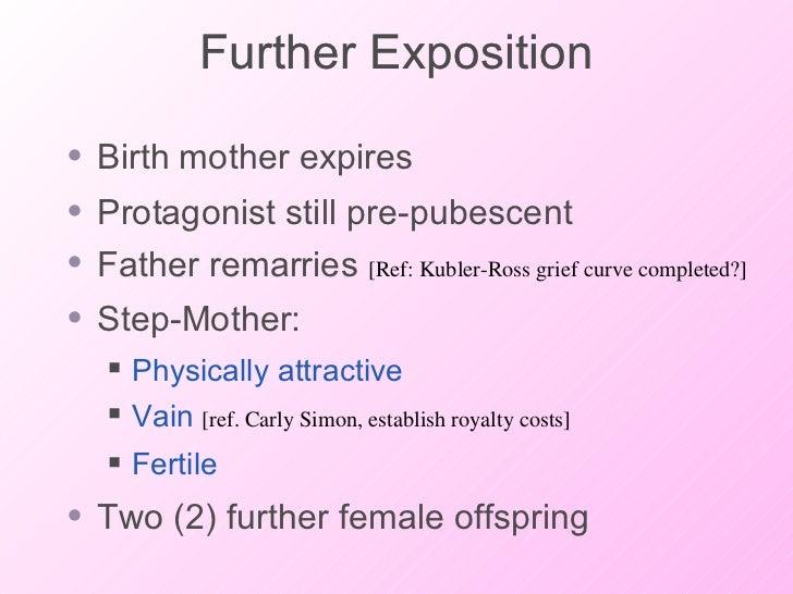 Further Exposition <ul><li>Birth mother expires </li></ul><ul><li>Protagonist still pre-pubescent </li></ul><ul><li>Father...