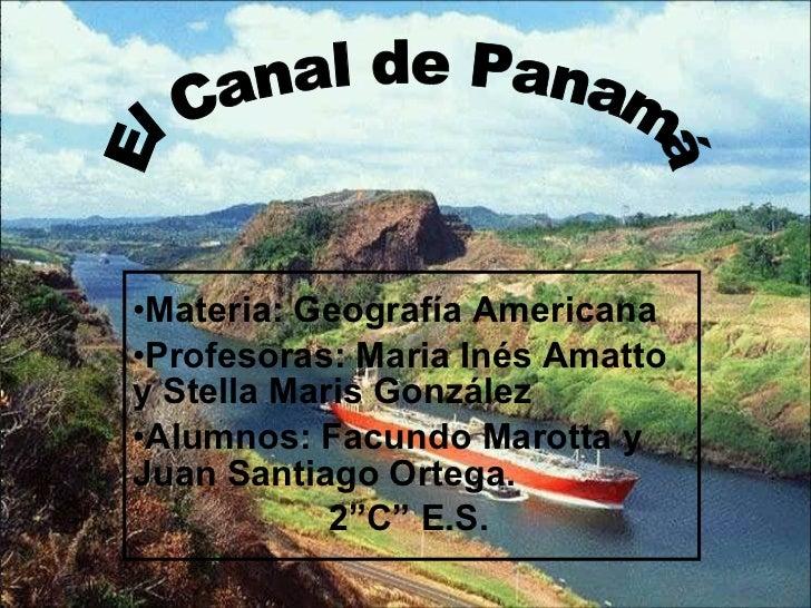 <ul><li>Materia: Geografía Americana </li></ul><ul><li>Profesoras: Maria Inés Amatto y Stella Maris González </li></ul><ul...