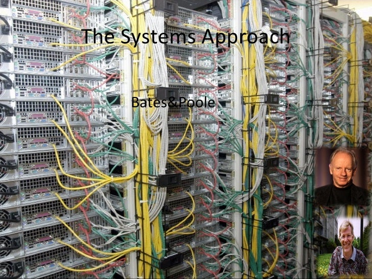 The Systems Approach <ul><li>Bates&Poole </li></ul>