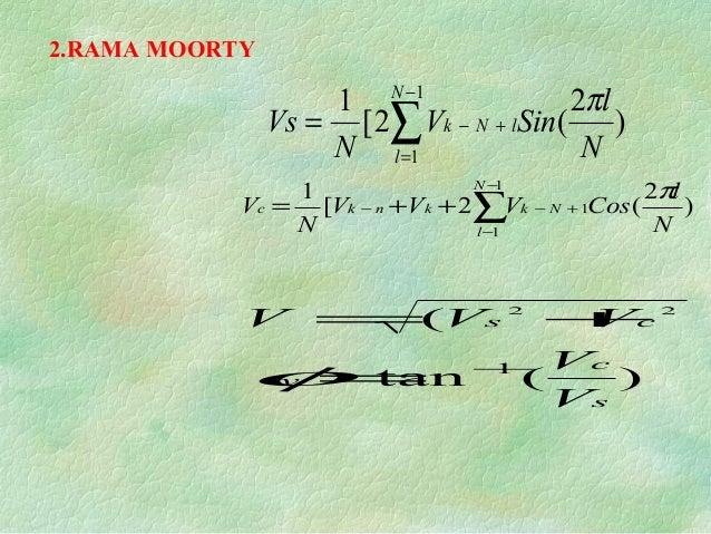 2.RAMA MOORTY ) 2 (2[ 1 1 1 ∑ − = +−= N l lNk N l SinV N Vs π ∑ − − +−− ++= 1 1 1 ) 2 (2[ 1 N l Nkknkc N l CosVVV N V π )(...