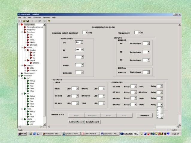 PROTEC-BR (CONFIGURED AS REMOTE RTUs) EWS & OWS RS 485 BUS PROTEC-BR 1 2 3 4 5 6 7 8 9 . 0 F1 F3 F2 F4 C R NOY ES TRI P IM...