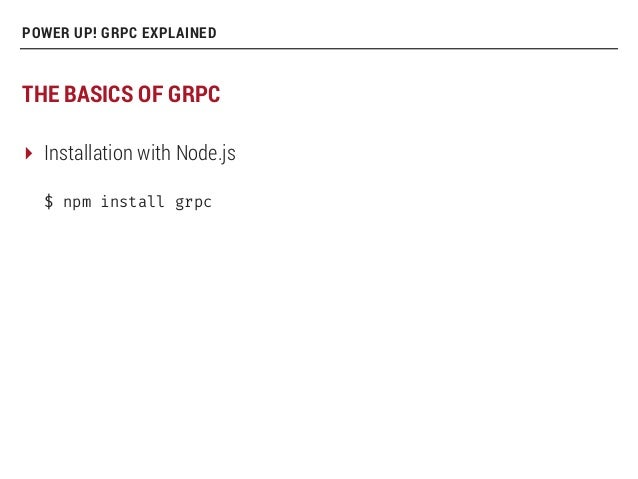 Power-up services with gRPC