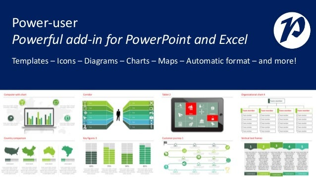 Power user plugin for powerpoint and excel power user powerful add in for powerpoint and excel templates icons diagrams ccuart Image collections