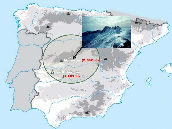 Almanzor (2.592 m)Las Villuercas    (1.603 m)