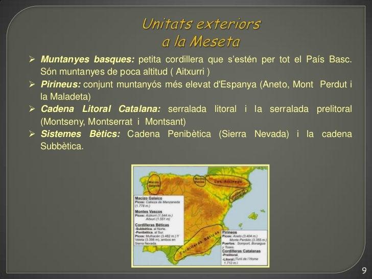  Muntanyes basques: petita cordillera que s'estén per tot el País Basc.  Són muntanyes de poca altitud ( Aitxurri ) Piri...