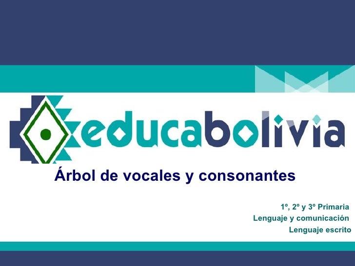 Árbol de vocales y consonantes  1º, 2º y 3º Primaria  Lenguaje y comunicación  Lenguaje escrito