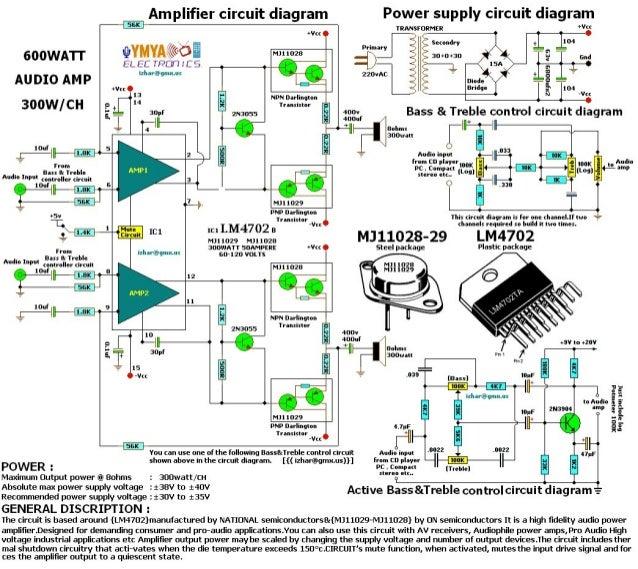 600 Watt Darlington Power Amplifier Schematic Diagram Wiring Diagram