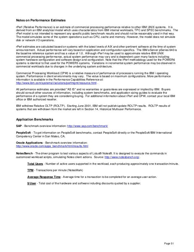 IBM Power Systems Performance Report