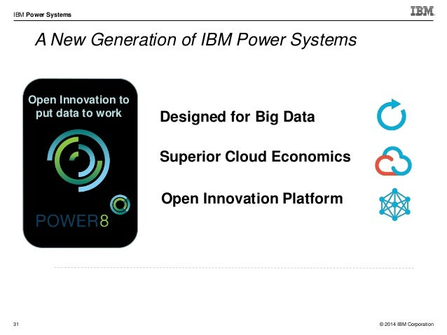 © 2014 IBM Corporation IBM Power Systems 41 POWER8 1S4U Scale-out System Power S814  Form Factor: 4U or Tower  Single So...