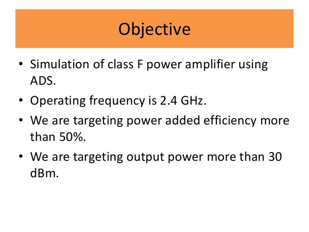 Power amplifier ppt