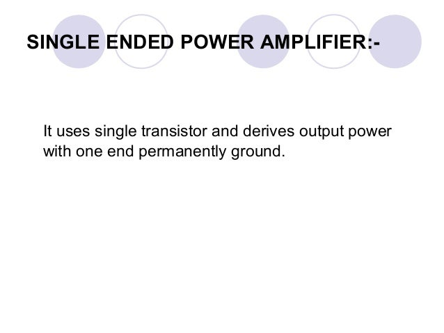 Power amplifire analog electronics
