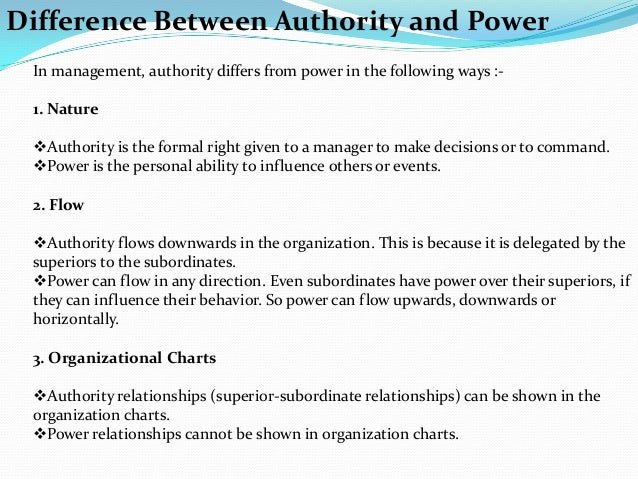 similarities between power and authority