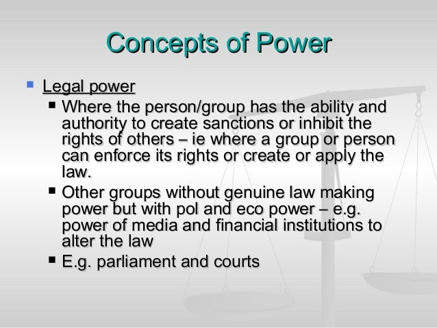 the two concepts of power and authority Where does government get its authority to do so many things that no person or   the ancient and modern concepts of the sources of governmental authority   and the powers not specifically delegated to government for that purpose are   nor can two or more individuals legitimately do in common what is forbidden to.