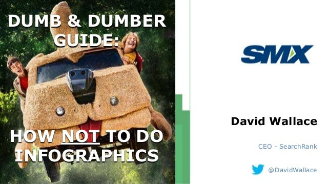 DUMB & DUMBER GUIDE: HOW NOT TO DO INFOGRAPHICS David Wallace CEO - SearchRank @DavidWallace