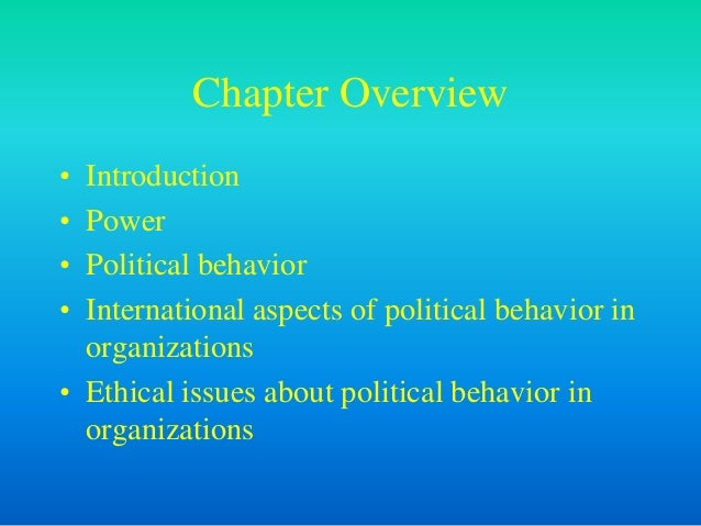 leveraging organizational behavior intro and power Introduction to organizational behaviour chapter 1 study of organizational behaviour introduction  conflict and manipulating power bases need to be handled.