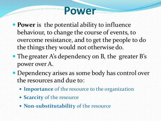 Power and Politics Organization Theory