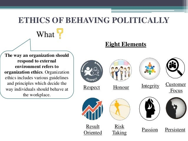 the political behavior and the way it reflects the work environment In the workplace there is either real or perceived unfair treatment, emotional abuse, discrimination, sexual harassment, disparate treatment, cultural diversity, anger, hostility, or potential violence.